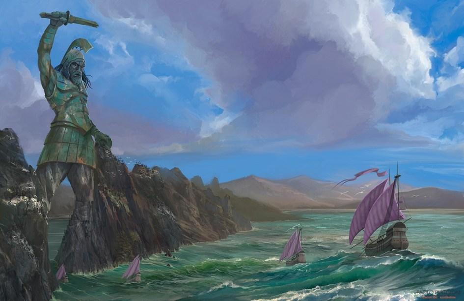 Ilustración del Titán de Braavos por Paolo Puggioni