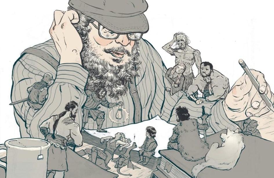 Ilustración de George RR Martin, Así Habló Martin