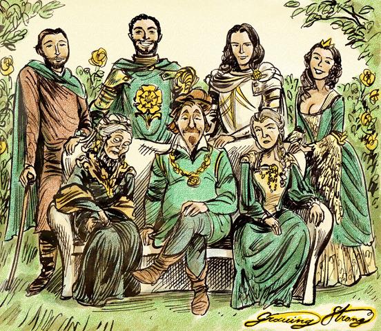 Ilustración de la Casa Tyrell