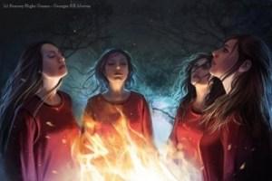Sacerdotisas rojas adorando a R'hllor