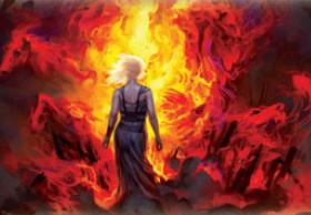 Daenerys entra en la pira funeraria de Khal Drogo