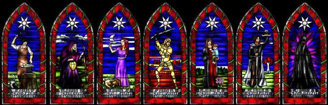 Ilustración de los siete dioses de la Fe de los Siete