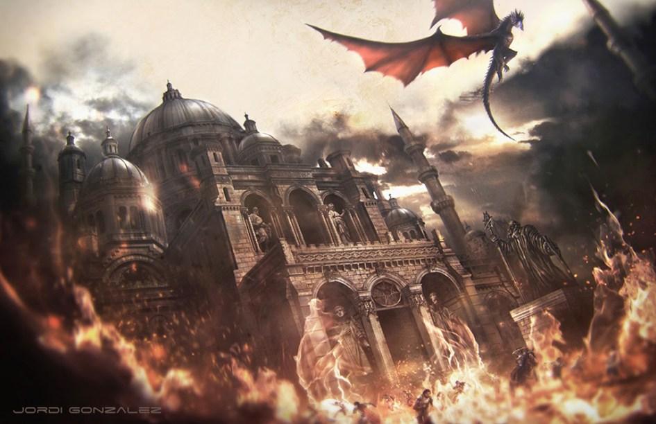 Maegor el Cruel Targaryen destruye el Septo de la Conmemoración