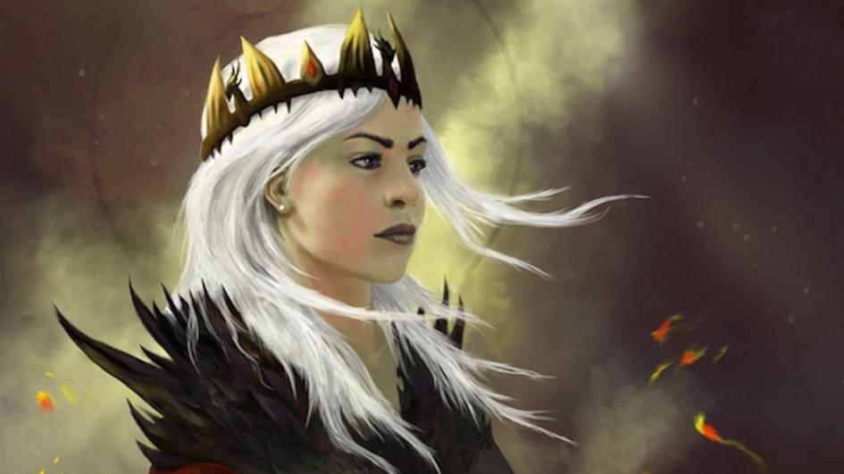 Ilustración de Rhaenyra Targaryen, una de las reinas de Poniente