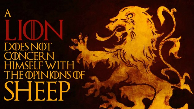 Lannister, Lion-Sheep. Emblema Lannister, Logo Lannister,