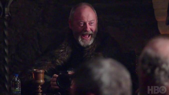 Liam Cunningham como Davos en Juego de Tronos