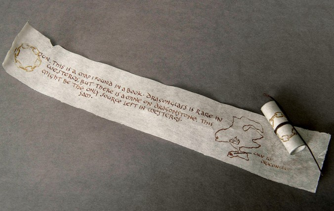 Carta de Sam a Jon sobre Rocadragón