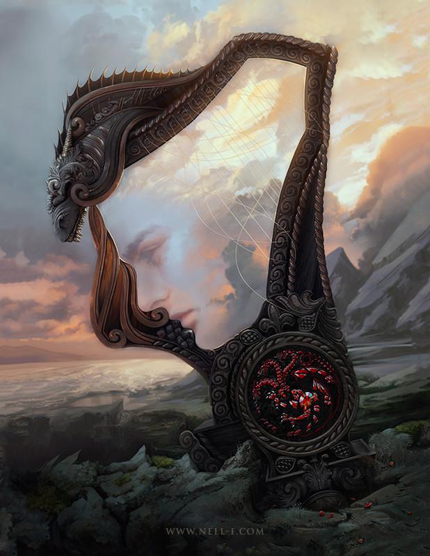 Rhaegar y su arpa