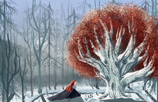 Sansa Stark en el bosque de dioses arciano