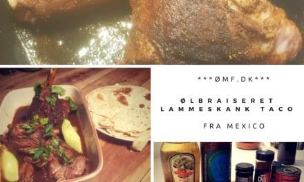 Ølbraiseret lammeskank taco