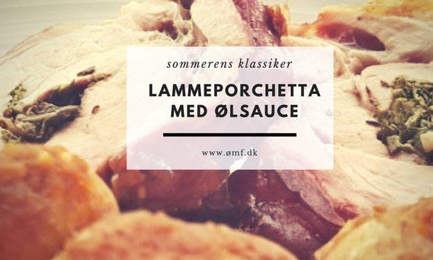 Lammeporchetta med ølsauce