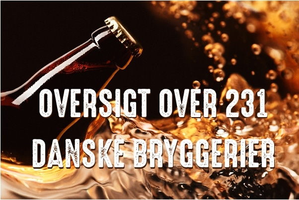 Oversigt over 231 Danske Bryggerier
