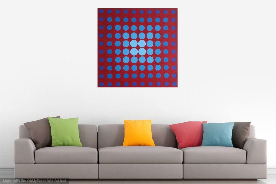 nr.239 100 Circles over sofa 100x100 cm JR
