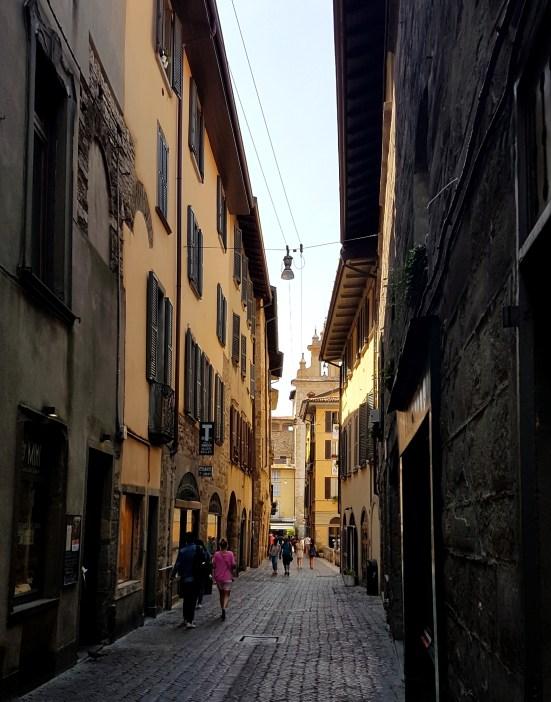 Bergamo w jeden dzień - Citta Alta, średniowieczne uliczki