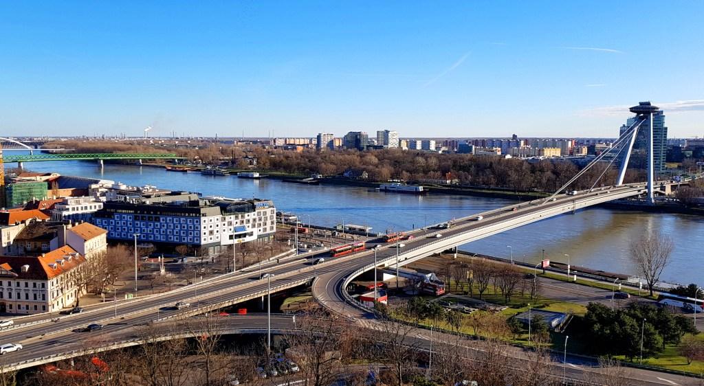 Ciekawe miejsca w Bratysławie - panorama Bratysławy