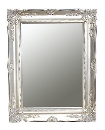 Spiegel Wandspiegel Flurspiegel ISABELLA antik silber Barock 46,5 x 37 cm