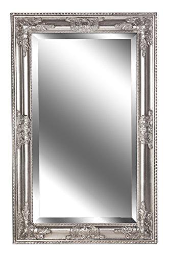 Spiegel Wandspiegel KIM antik silber Barock 80 x 50 cm