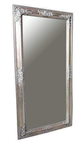 Spiegel Wandspiegel RACHEL antik silber Barock 100 x 50 cm