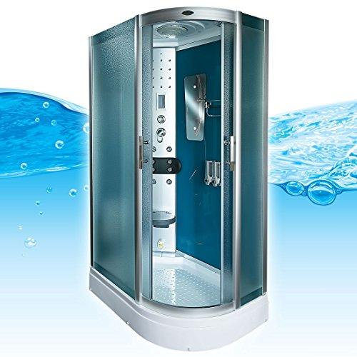 AcquaVapore DTP8060-7110R Dusche Duschtempel Komplett Duschkabine 80x120
