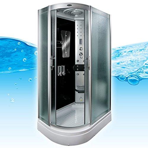AcquaVapore DTP8060-7311L Dusche Duschtempel Komplett Duschkabine -Th. 120x80