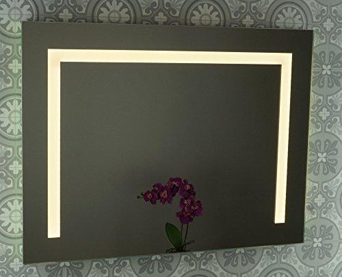 """LED Badspiegel / Badezimmerspiegel / Leuchtspiegel / Lichtspiegel / Spiegel mit LED-Beleuchtung """"Carlos"""" 80 x 60cm"""