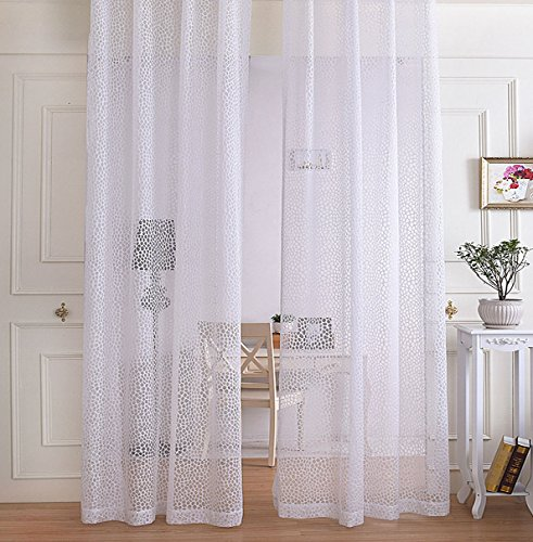 R.LANG Gardinen Wohnzimmer Modern mit Kräuselband Oben Vorhang Weiß
