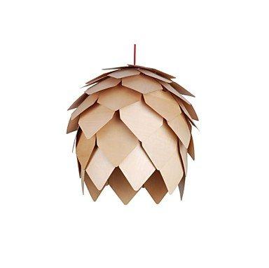Design Style Pinecone Funktion L 220V LED warme Holz Pendelleuchte