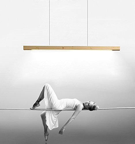Pendelleuchte LED Pendellampe Hängelampe Hängeleuchte Esstisch Höhenverstellbar modern Kronleuchter aus Holz Acryl für Küche Wohnzimmer Schlafzimmer