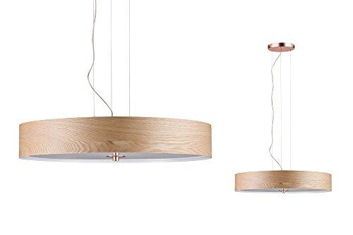 Paulmann 79649 Neordic Liska Pendelleuchte max.3x20W E27 Holz/Kupfer matt 230V Holz/Metall