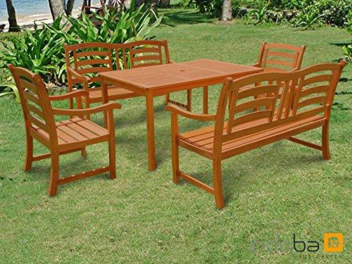 Indoba® Gartenmöbel Set 5-teilig Montana Gartenset Holz Garnitur