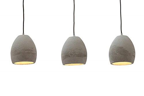 DuNord Design Hngelampe Pendellampe BTONG 3er Beton grau Industrie Design Lampe Leuchte  MBEL24