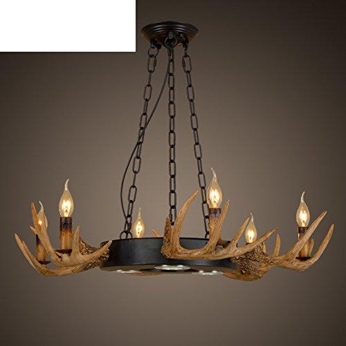 Dorf Wohnzimmer Esszimmer Vintage Lampe schpferische Persnlichkeit Geweih Kronleuchter