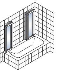 Schulte Duschabtrennung Badewanne Kunstglas alunatur 2x3 ...