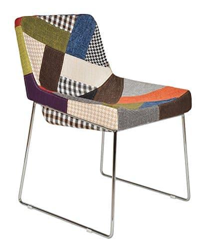 tsideen 1x Design Patchwork Sessel Wohnzimmer Kchen Bro