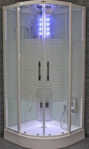 AcquaVapore DTP8068-1010 Dusche Duschtempel Komplett Duschkabine 90x90