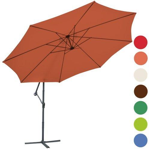 Ampelschirm Sonnenschirm Gartenschirm Kurbelschirm Sonnenschutz Ø 350cm Farbwahl