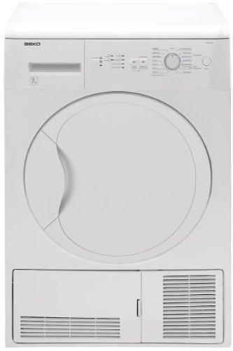 Beko DCU 7230 Kondenstrockner / B / 7 kg / weiß / Freuchtigkeitssensor / Automatischer Knitterschurz / Trommelbeleuchtung / Reversierende Trommelbewegungen [Altes Modell]