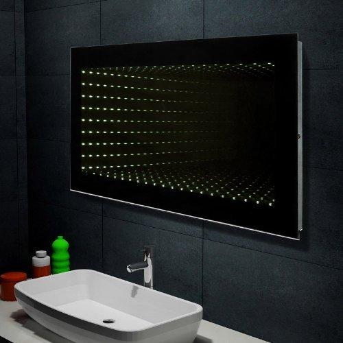 Design Wand Spiegel Badezimmerspiegel mit LED Beleuchtung Galactika