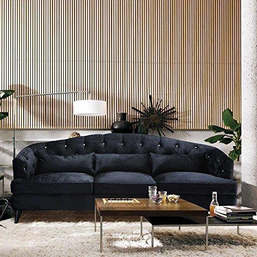 Designer Sofa im Retro Design Anthrazit Pharao24