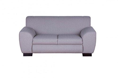 Dreams4Home Polstersofa, 2-Sitzer, 2er, 'Laurence', Webware, beige, Polstermöbel, Echtholzfüße, Couch