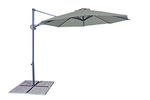 GoodSun Sonnenschirm Pendelschirm RVL, greige, 300 cm rund, Gestell Stahl/Kunststoff, Bespannung Polyester, 13.7 kg