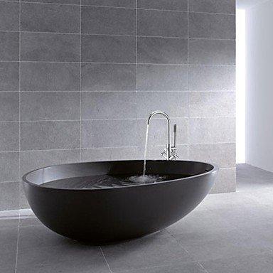 HOSEE- Duscharmaturen/Badewannenarmaturen - Zeitgenössisch - Handdusche inklusive/Bodenstand - Messing ( Chrom )