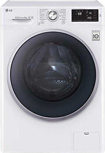 LG Electronics F 14U2 VDN1H Waschmaschine FL/A+++/152 kWh/Jahr/1400 UpM/9 Kg/9500 liter/jahr/14 vorprogrammierte Programme/Smart Diagnosis/weiß