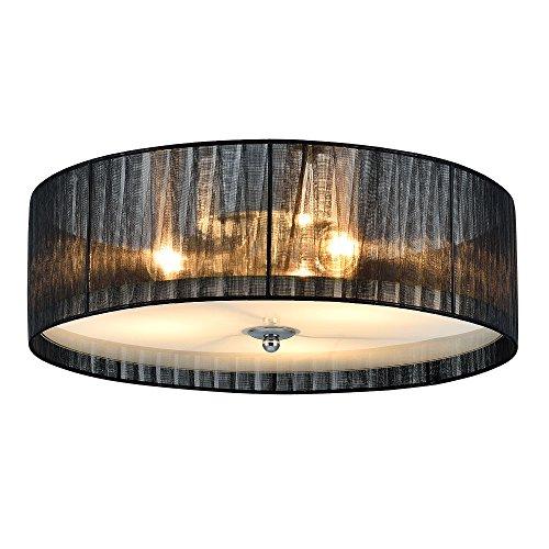Lüster Deckenleuchte / Deckenlampe - Helena - von [lux.pro]® - Modernes Design: Kronleuchter aus Organza & Kunst-Stoff weiß / schwarz - Ø 40 cm Leuchte - 3 x E27 Sockel - für Wohnzimmer & Schlafzimmer