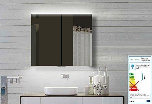 Lux-aqua Alu Badezimmerspiegelschrank mit Led Beleuchtung