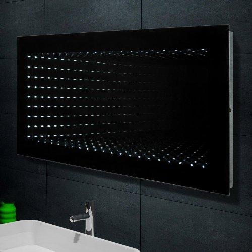 Lux-aqua Wand Spiegel Badezimmerspiegel mit LED Beleuchtung mit 450 Lumen 6400K 120x60cm 1243B