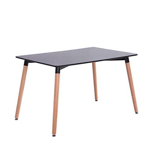 Mdf Inspiration Retro Dining Room Table 120 x 80 cm Black