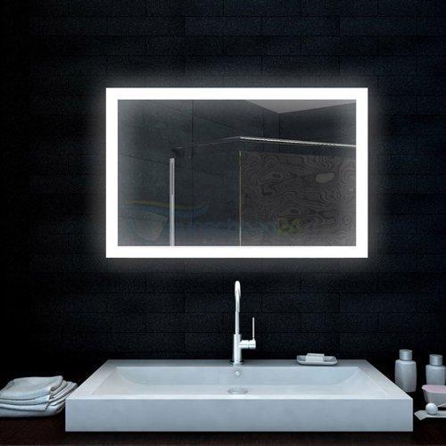 Badezimmerspiegel Lichtspiegel mit LED-Lampe - 100x65 cm