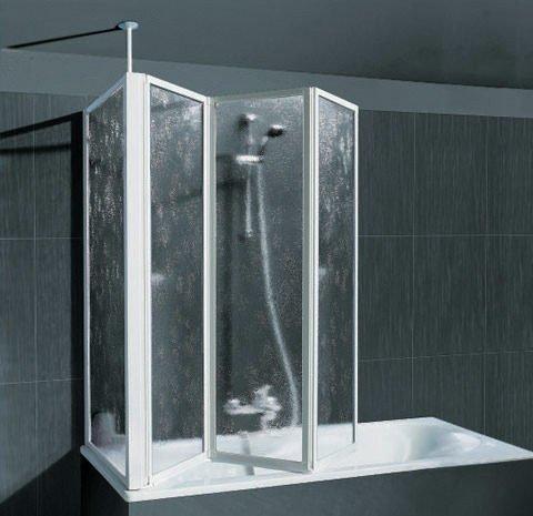 SCHULTE Badewannenaufsatz mit Teleskopstange und