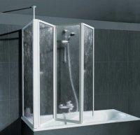 SCHULTE Badewannenaufsatz mit Teleskopstange und ...